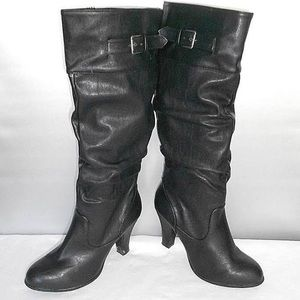 Rampage black heeled boots sz 11
